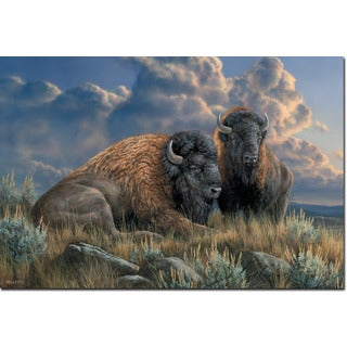 WGI Gallery 'Distant Thunder Bison' Wall Art Printed on Wood