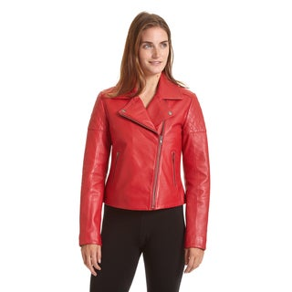 Excelled Women's Asymmetrical Notch Collar Moto Jacket
