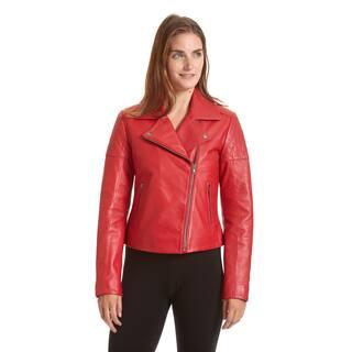 Excelled Women's Asymmetrical Notch Collar Moto Jacket|https://ak1.ostkcdn.com/images/products/12317551/P19150802.jpg?impolicy=medium