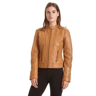 EXcelled Women's Moto Collar Scuba Jacket