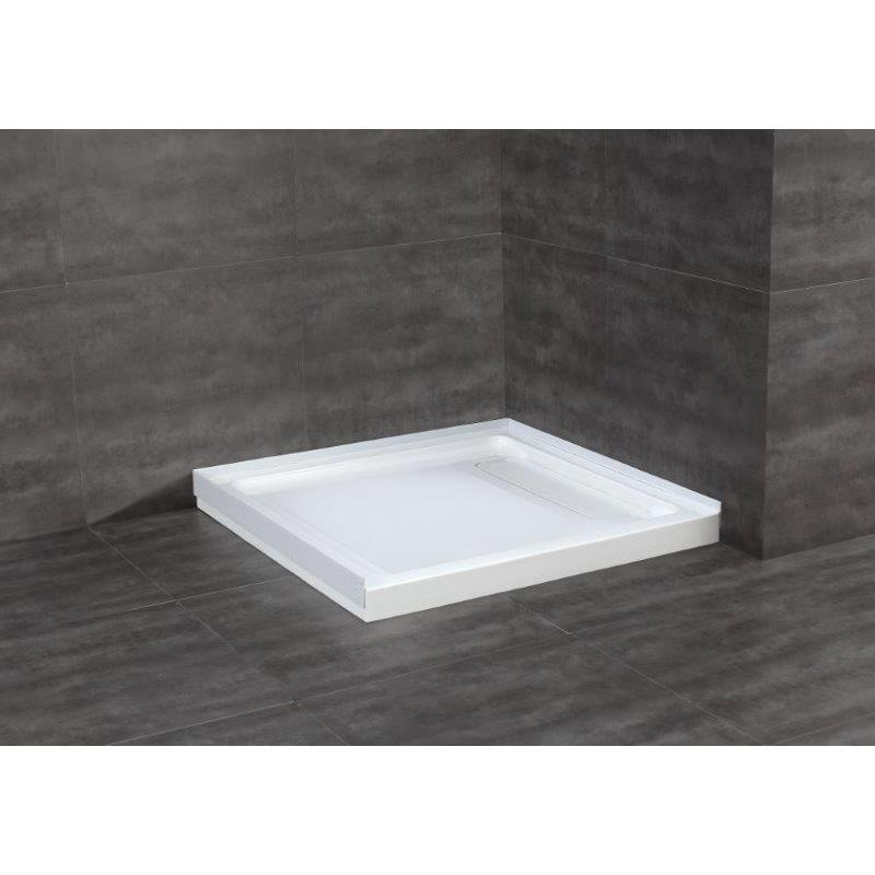 OVE Decors White Acrylic 36-inch Square Shower Base (Whit...