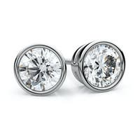 14k White Gold 3/4ct TDW Diamond IGI Certified Stud Earrings