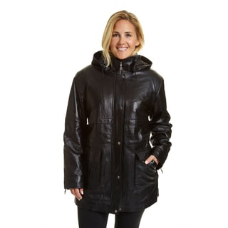 EXcelled Women's Plus-size Hooded Parka