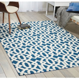 Nourison Enhance Blue Area Rug (5' x 7')