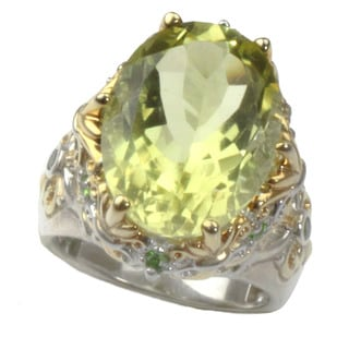 One-of-a-kind Michael Valitutti Oruo Verde and Chrome Diopside Ring
