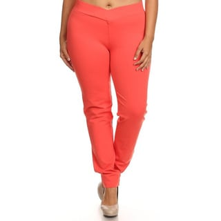 Plus-size Women's Solid Pants