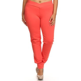 Plus-size Women's Solid Pants|https://ak1.ostkcdn.com/images/products/12318083/P19151320.jpg?impolicy=medium