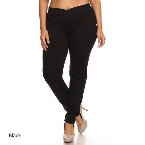 Plus-size Women's Solid Pants