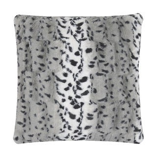 Anna Ricci Animal Print Faux Fur 18-inch Square Throw Pillow