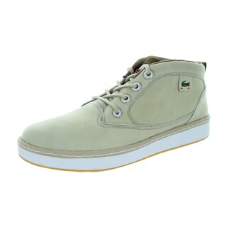 Lacoste Men's Keston Lms Lem Lt Tan Green Casual Shoe