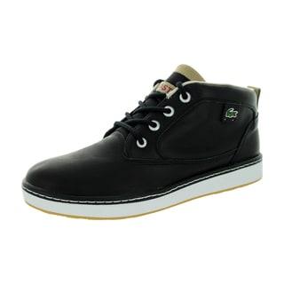 Lacoste Men's Keston Lms Lem Lth Black/Lt Tan Casual Shoe