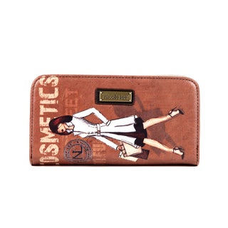 Nicole Lee Gitana Cosmetics Vintage-print Wallet