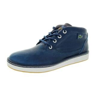 Lacoste Men's Keston Lms Lem Lth Dark Blue/ Casual Shoe