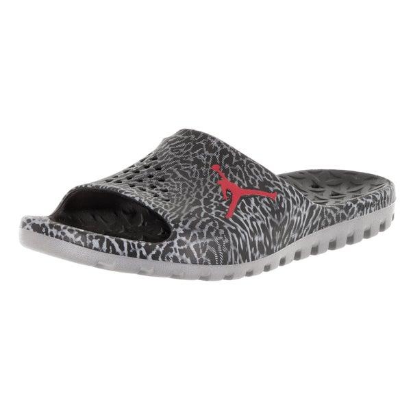 7acde5c9189c77 Shop Nike Jordan Men's Jordan Super.Fly Team Slide Gr Black/Gym Red/Cool  Grey Sandal - Free Shipping Today - Overstock - 12318161