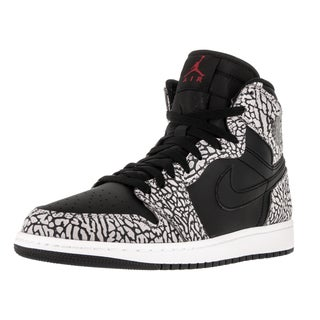 Nike Jordan Men's Air Jordan 1 Retro High Black/Gym Red/CMint Grey/Anthracite Basketball Shoe