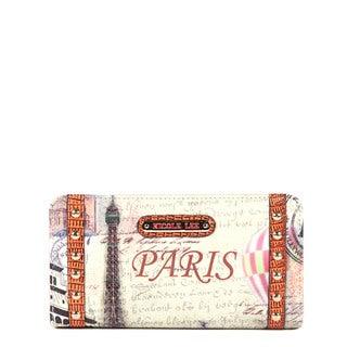 Nicole Lee Gitana Vintage Print Wallet (Paris)