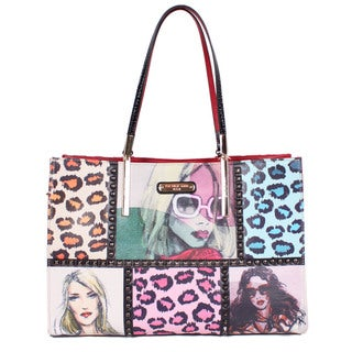 Nicole Lee Sketch Book Print Satchel Handbag