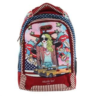 Nicole Lee 20.5-inch Leona Pop Girl Rolling Laptop Backpack