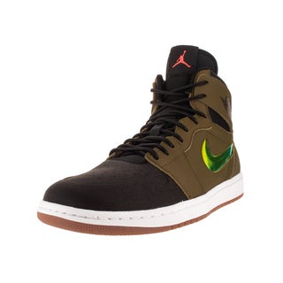 Nike Jordan Men's Air Jordan 1 Retro High Nouv Mlt Green/ Orange/Black/White Basketball Shoe