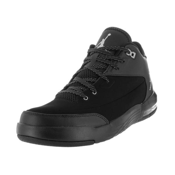55309bb2e47e Shop Nike Jordan Men s Jordan Flight Origin 3 Black Metallic Silver ...