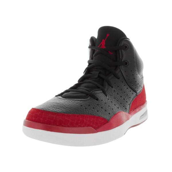c41d41f53da4 Shop Nike Jordan Men s Jordan Flight Tradition Black Gym Red White  Basketball Shoe - Free Shipping Today - Overstock - 12318234