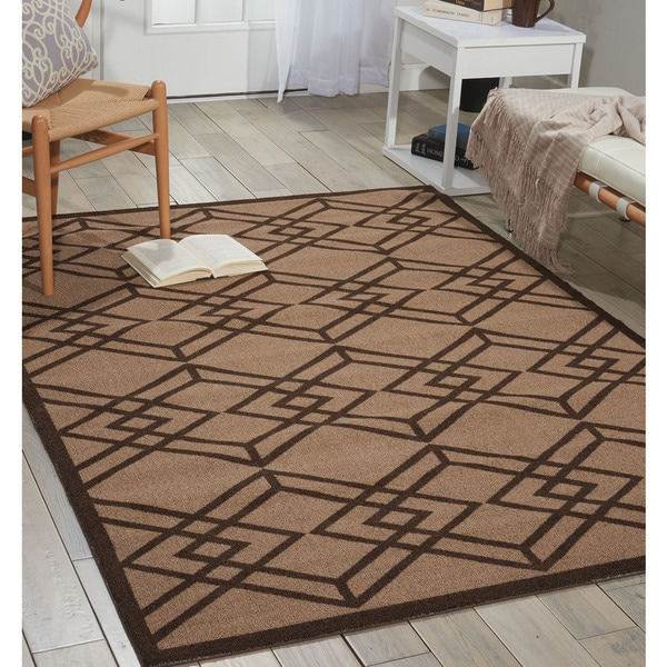 Nourison Enhance Latte Area Rug (4' x 6')