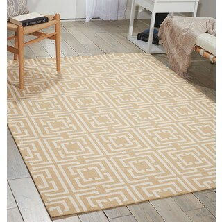 Nourison Enhance Tan Area Rug (2'6 x 4')