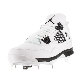 Nike Jordan Men's Jordan Iv Retro Metal White/Black Baseball Cleat 8 Men's Us