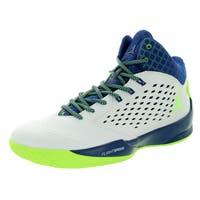Nike Jordan Men's Jordan Rising High White/Green/Insgn Bl/Infrrd 2 Basketball Shoe
