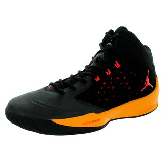 Nike Jordan Men's Jordan Rising High Black/Infrared 23/Lsr Orange/White Basketball Shoe