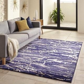 Porch & Den Padilla Blue Rug (Blue - 86 x 116)