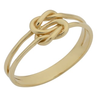 Fremada 14k Yellow Gold High Polish Double Love Knot Ring