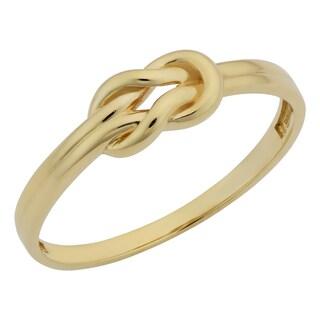 Fremada 14k Yellow Gold High Polish Love Knot Ring