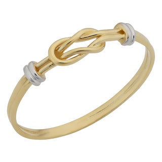 Fremada 14k Two-Tone Gold High Polish Love Knot Ring