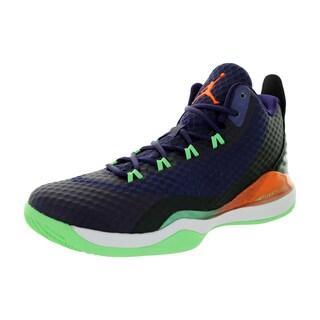 Nike Jordan Men's Jordan Super.Fly 3 Po Ink/Brightt Mandarin/Black/White Basketball Shoe
