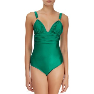 Vix Bia Women's Solid Green Polyamide/Elastane One-piece Swimsuit