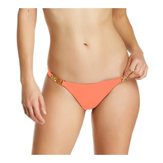 Vix Coral Gold Detail Full Bikini Bottom