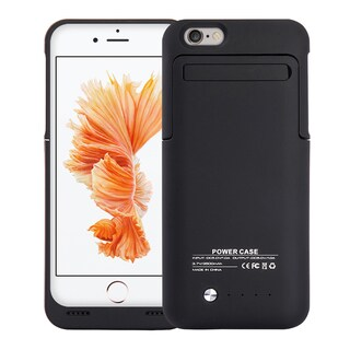 Apple iPhone 6/6S Black 3,500-milliamp-hours Battery Charging Case With Stand