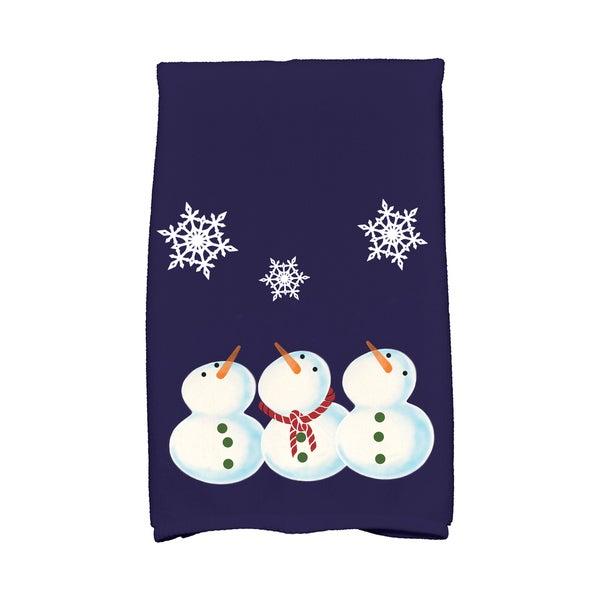 16 x 25-inch, 3 Wise Snowmen, Geometric Print Hand Towel