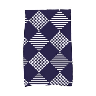 16 x 25-inch, Check It Twice, Geometric Print Hand Towel