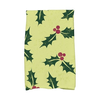 16 x 25-inch, Allover Holly, Floral Print Hand Towel
