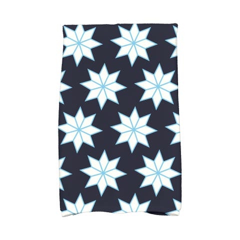18 x 30-inch, Christmas Stars 1, Geometric Print Hand Towel