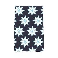 16 x 25-inch, Christmas Stars 1, Geometric Print Hand Towel