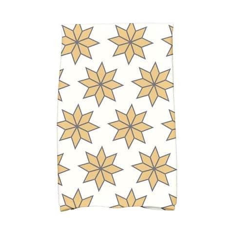 16 x 25-inch, Christmas Stars 2, Geometric Print Hand Towel