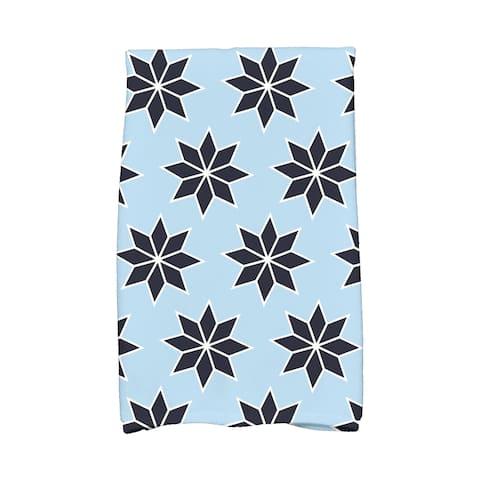 18 x 30-inch, Christmas Stars 2, Geometric Print Hand Towel