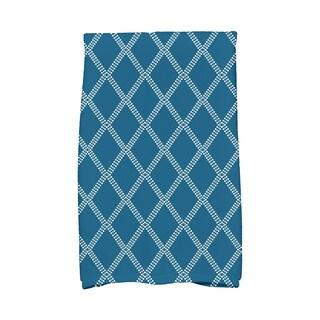 16 x 25-inch, Diamond Dots, Geometric Print Hand Towel