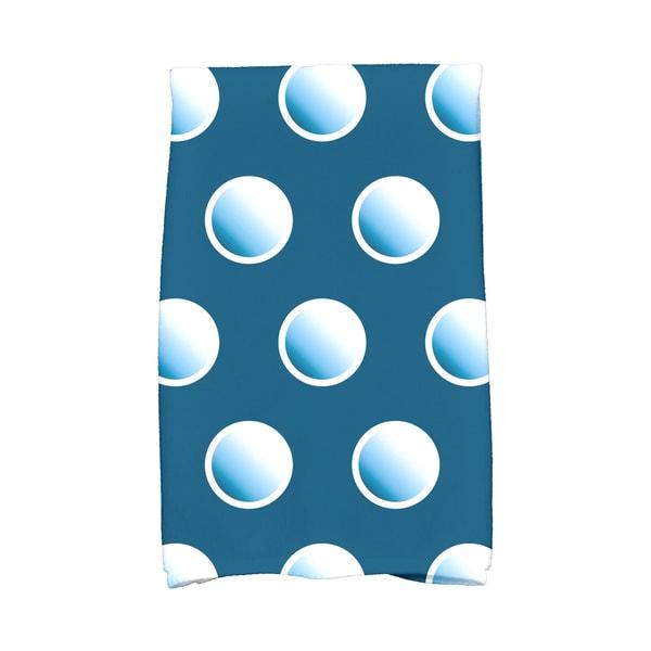 16 x 25-inch, Dip Dye Dots, Geometric Print Hand Towel