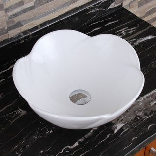 Elimax S 301 Lotus Round Shape White Porcelain Ceramic Bathroom Vessel Sink