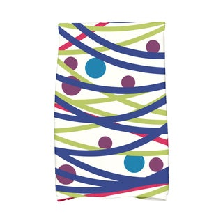 16 x 25-inch, Doodle Decorations, Geometric Print Hand Towel