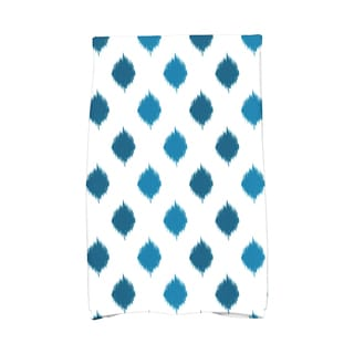 16 x 25-inch, Ikat Dot Stripes, Geometric Print Hand Towel